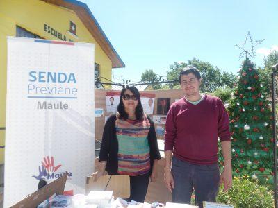 Campaña preventiva de SENDA llega hasta Coñaripe