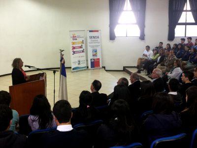 SENDA Previene de Santo Domingo realizó exitosa capacitación de responsabilidad vial a estudiantes de la comuna