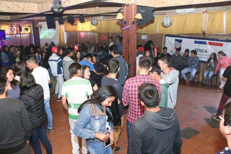 Con éxito se desarrolló la fiesta cero alcohol organizada por SENDA Previene de Nueva Imperial