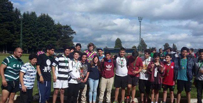 SENDA Previene Lautaro realizó primer campeonato de rugby juvenil