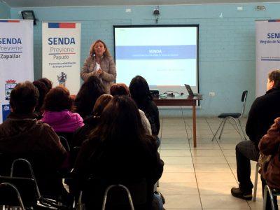 Con éxito se realizan Jornadas Provinciales de Líderes de SENDA en la región de Valparaíso