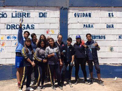 Alumnos del Colegio Nirvana promueven la prevención recuperando espacios públicos
