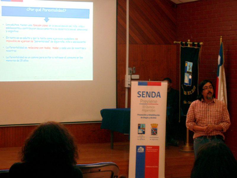 SENDA Previene de El Quisco-Algarrobo realiza taller de Parentalidad Positiva