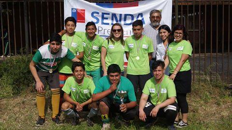 Vibrante campeonato de futbolito organizado por SENDA Previene Temuco convocó a estudiantes de Liceo Tecnológico