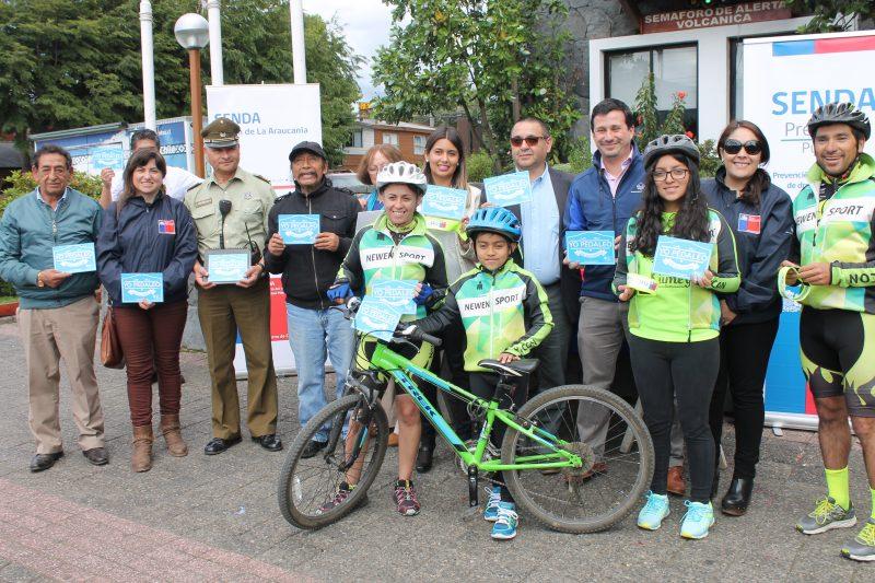 SENDA Araucania refuerza llamado a ciclistas y peatones a protegerse ante accidentes en festividades de fin de año
