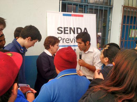 SENDA Previene La Cisterna llega a estudiantes con entretenido recreo preventivo