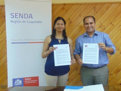 Firman convenio de colaboración con Municipalidad de Combarbalá