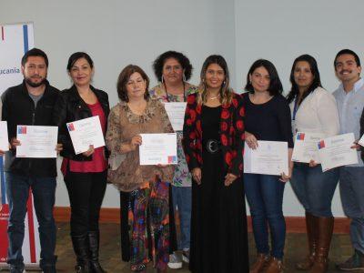 SENDA Araucanía certificó a profesionales de la red de centros de tratamiento en la región