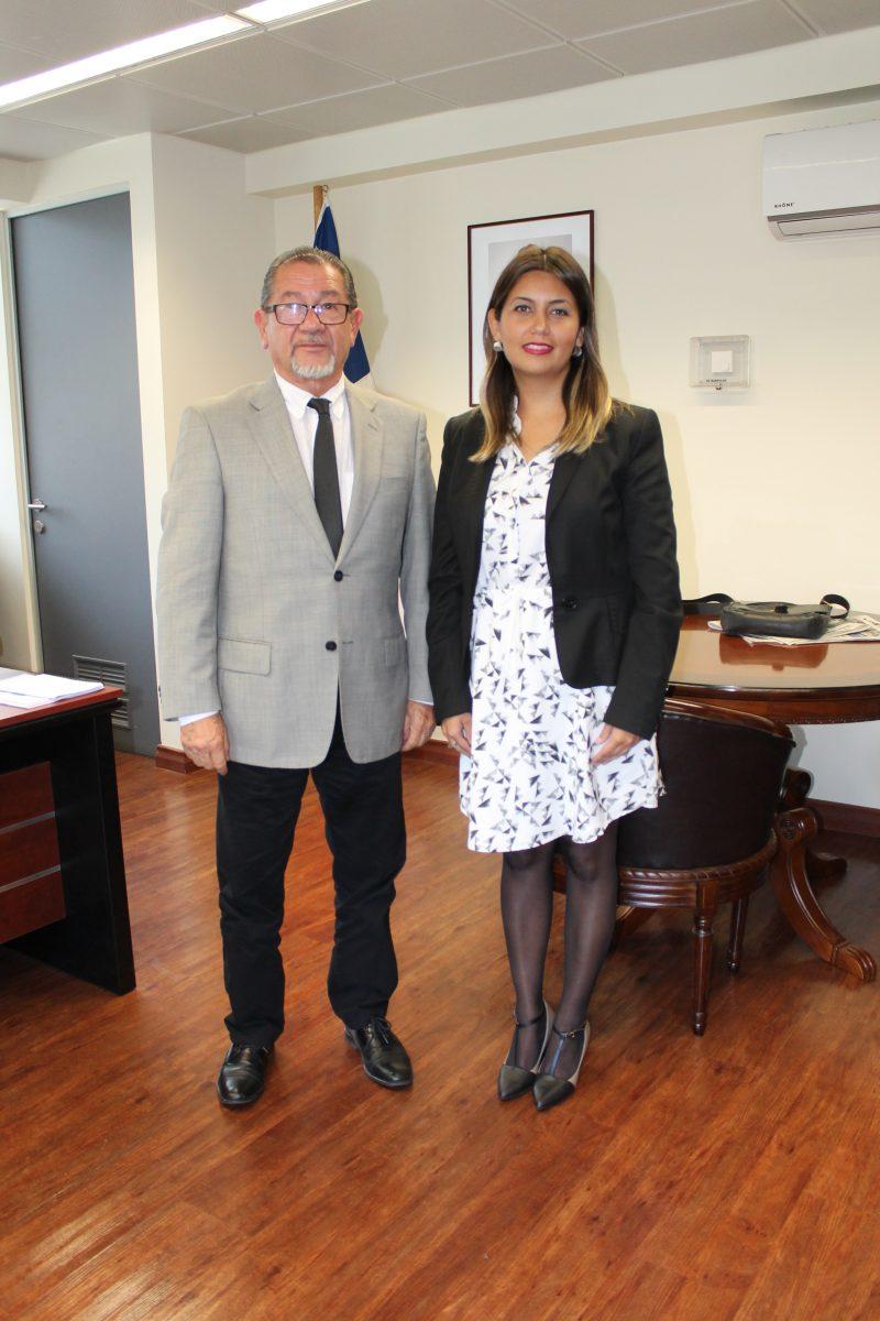 Directora Regional de SENDA Araucanía se reúne con Intendente Regional Miguel Hernández S.