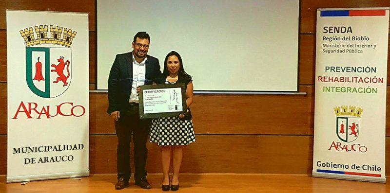 SENDA Biobío certificó a Cuerpo de Bomberos de Arauco como la primera institución preventiva del consumo de drogas en el país
