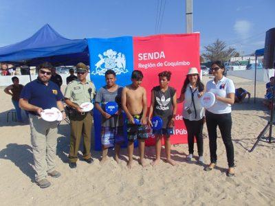 En las playas de Coquimbo lanzan campaña de verano