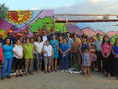 Inauguran mural creado por los propios vecinos de la Villa El Palqui de Monte Patria