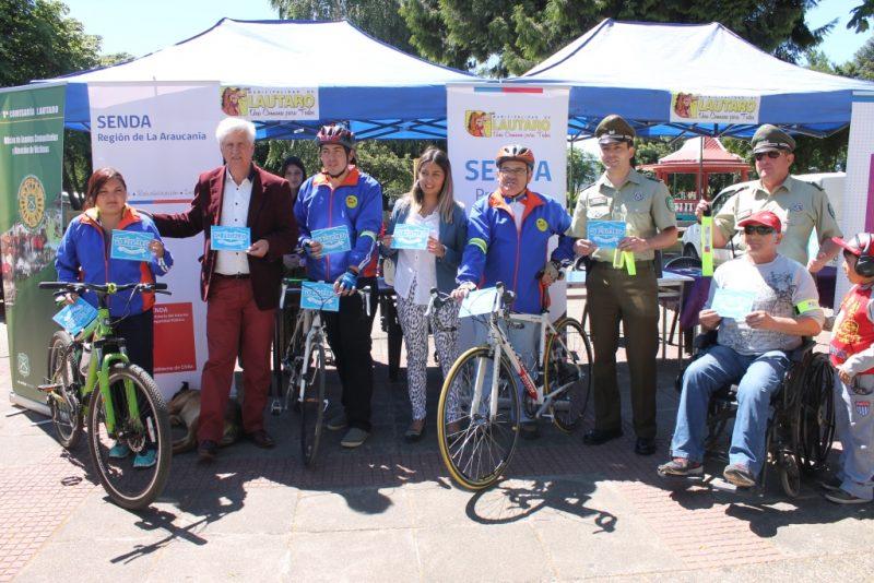 SENDA Araucania llamó a ciclistas de Lautaro a pedalear sin alcohol