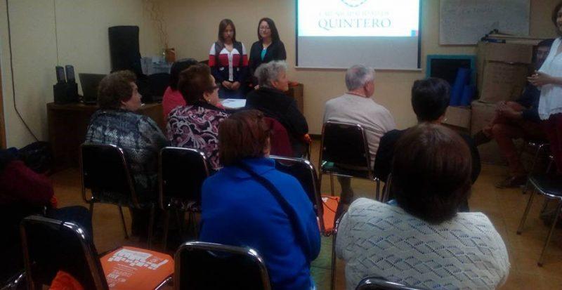 Senda Previene Quintero realizó Capacitación a líderes comunales en Parentalidad Positiva