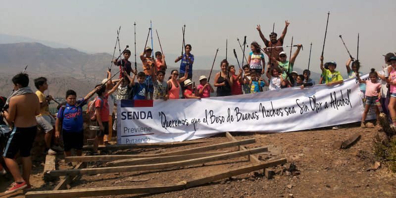 Niños, niñas y Adolescentes de Putaendo participaron en una caminata preventiva para llamar a la prevención del consumo de alcohol