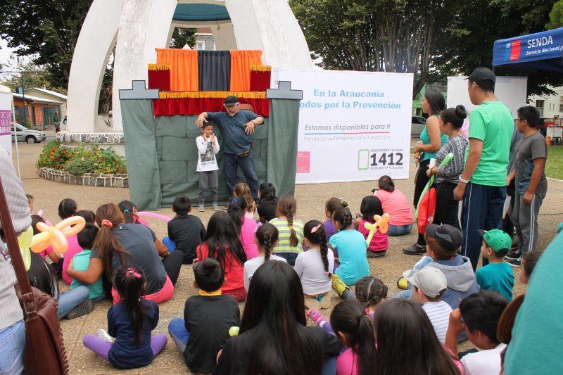 """""""Mañana recreativa preventiva"""" fue organizada por el SENDA Previene de Carahue"""