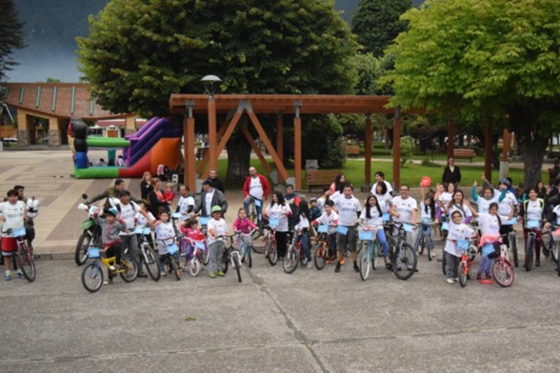 Con cicletada familiar, SENDA Previene Aysén invita a padres e hijos a conversar sobre alcohol y otras drogas
