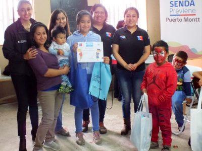 SENDA Previene Puerto Montt finaliza talleres de verano en Alerce