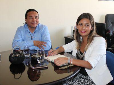 Directora Regional se reúne con Alcalde de la comuna de Lumaco