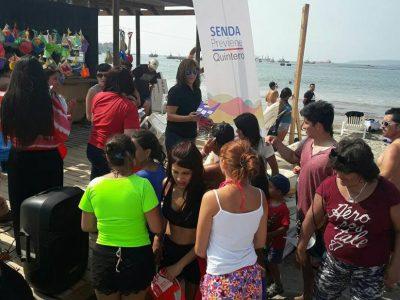 Continúan talleres  y actividades de verano impartidas por SENDA Previene Quintero