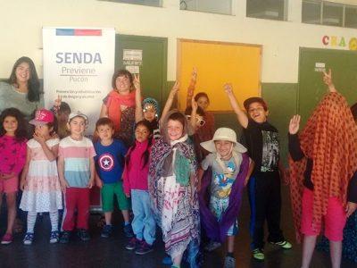SENDA Previene Pucón realiza actividades protectoras para niños de las Escuelas de Verano