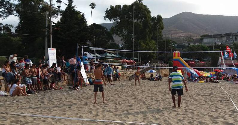 Campeonato de Voleibol Playa se disputó en la Playa Grande Papudo