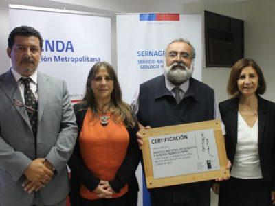 SENDA entrega certificación inicial a Sernageomin por programa «Trabajar con Calidad de Vida»