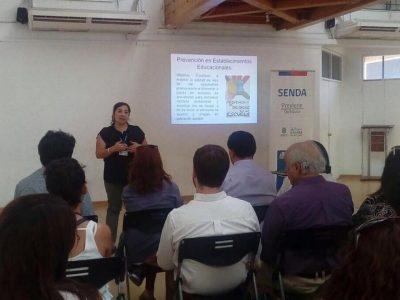 SENDA Previene Quilicura trabaja en la Mesa de Prevención Escolar
