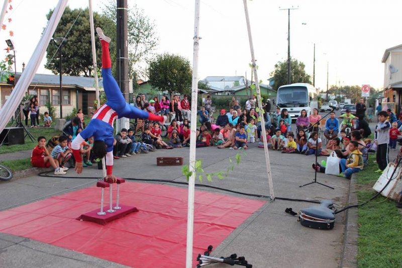 Niños y niñas disfrutaron de tarde recreativa en barrio focalizado con SENDA Previene Freire