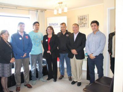 Autoridades conocen vivienda de apoyo a la integración social de SENDA para personas rehabilitadas por consumo de sustancias