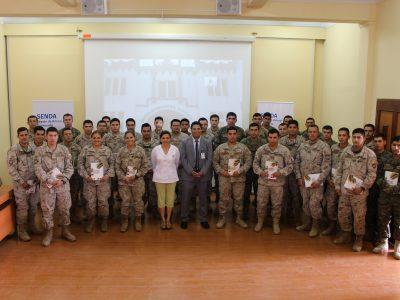 SENDA y Ejército capacitan a 39 monitores en prevención de alcohol y drogas