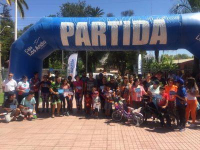 SENDA Previene Catemu realizó cicletada familiar en la comuna