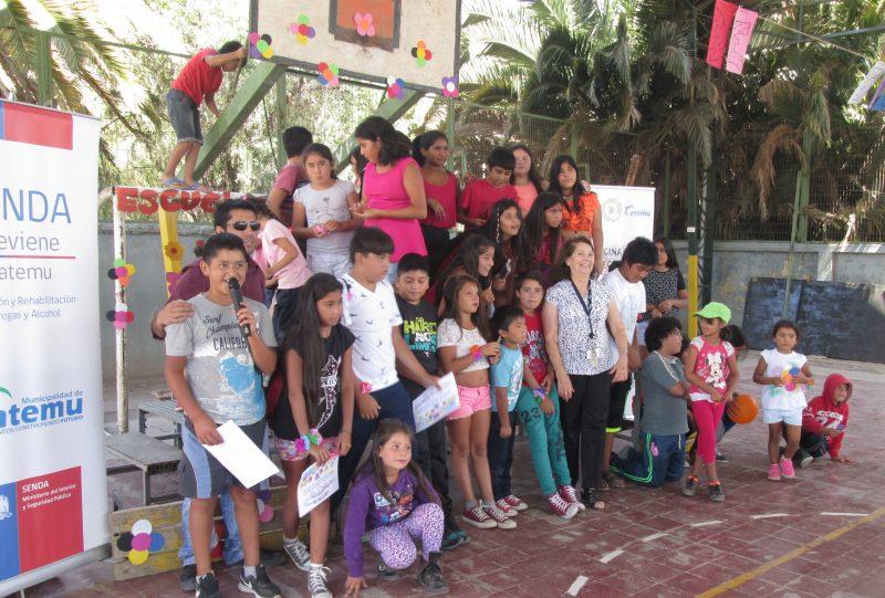 Baile y canto dejaron los niños de Catemu en el marco del Festival de Talentos realizado por SENDA Previene