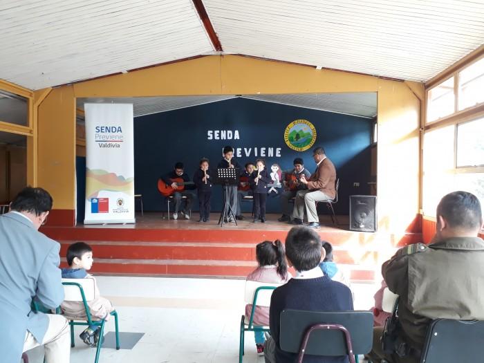 En Escuela Rural de Huellelhue programa SENDA Previene Valdivia inició su año escolar preventivo
