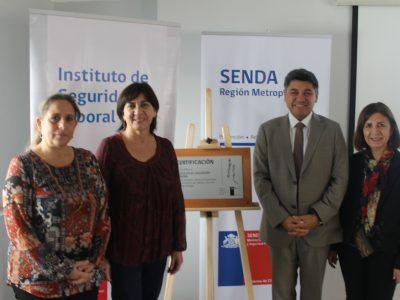 SENDA certifica al Instituto de Seguridad Laboral por programa Trabajar con Calidad de Vida