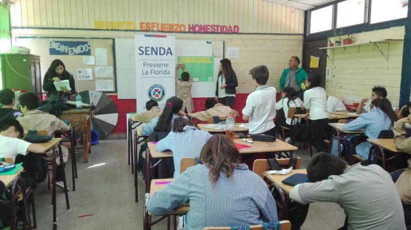 SENDA Previene La Florida comienza intervenciones en establecimientos educacionales