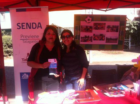 SENDA Previene Talagante participa de actividad en población Clara Solovera