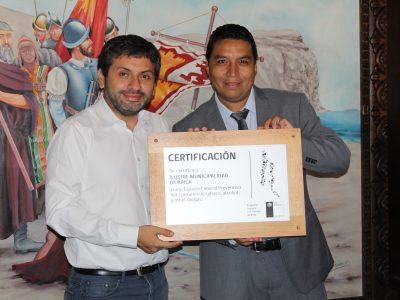 Municipalidad de Arica recibe certificación del programa Trabajar con Calidad de Vida de SENDA