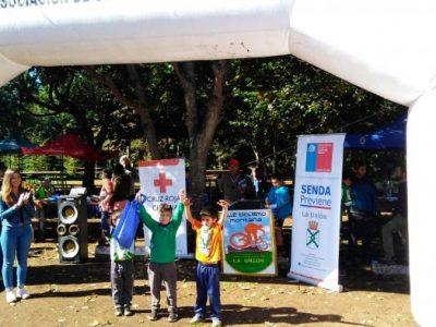 SENDA Previene La Unión promovió la prevención en competencia de ciclismo