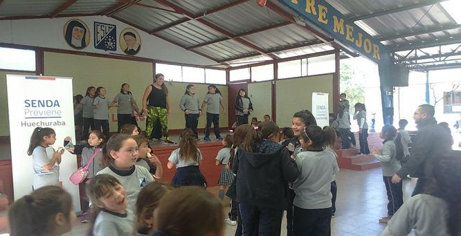Colegios de Huechuraba participan de actividades lúdicas preventivas