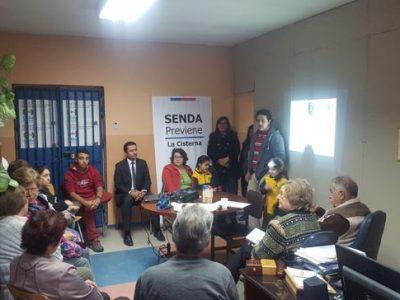 Mesa Comunitaria de La Cisterna realiza encuentro con el SENDA Previene