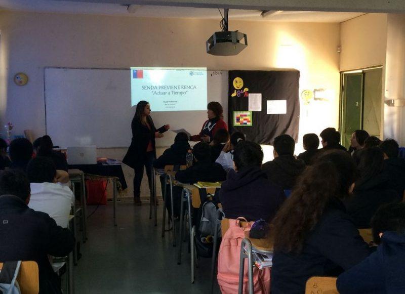 Estudiantes de Renca comienzan a aplicar el Continuo Preventivo