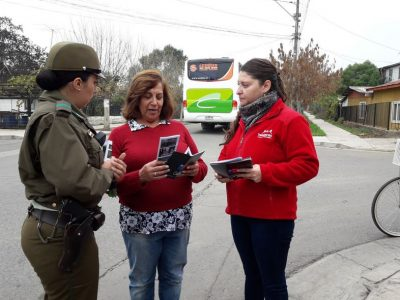 SENDA Previene Talagante realiza campaña preventiva junto a Carabineros