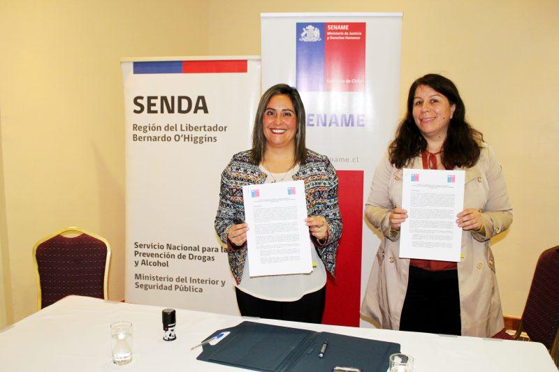 SENDA Y SENAME firman protocolo para trabajo integrado entre ambas instituciones.