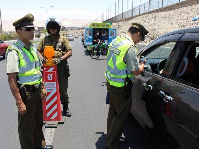 Más de cuatrocientos controles de alcotest a conductores realizó SENDA Arica y Parinacota durante fin de semana largo