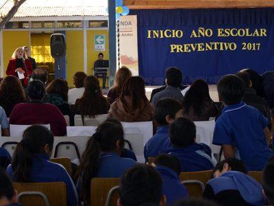 Junto a la comunidad escolar dan inicio al Año Escolar Preventivo en Los Andes