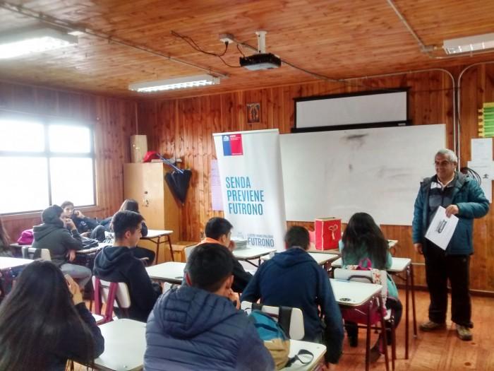 SENDA Previene Futrono dio inicio a la aplicación de programas preventivos en establecimientos educacionales para este 2017