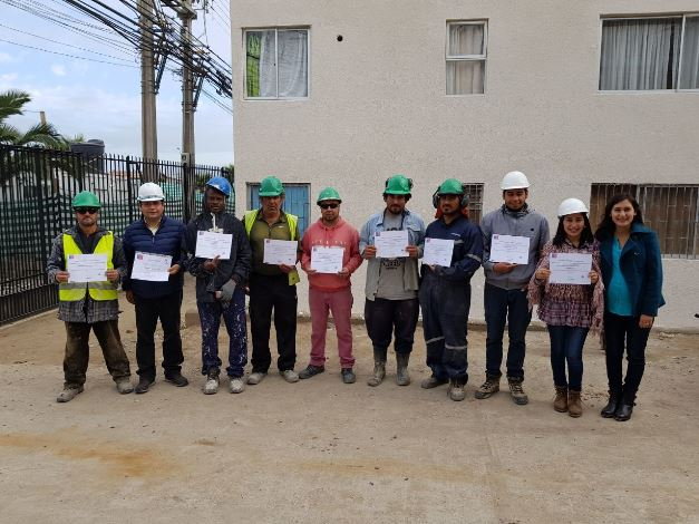 Capacitan a trabajadores de Constructora Casal