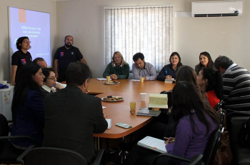 SENDA Previene El Tabo refuerza los compromisos adquiridos con los establecimientos educacionales
