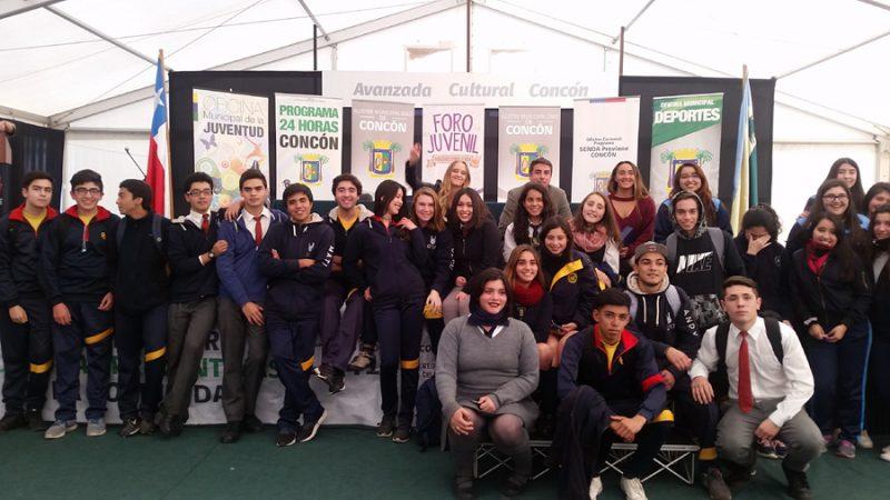 "Estudiantes de Concón participaron del 2º foro juvenil ""Habilidades para la Vida"""
